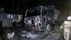 В Екатеринбурге ночью сгорела автостоянка. ФОТО