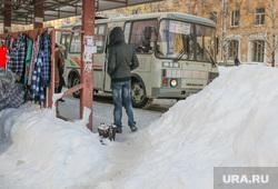 Снег в городе. Курган., снег, сугробы, пазик, остановка общественного транспорта