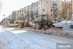 Чистка дорог  от снега и льда. Курган., чистка дороги